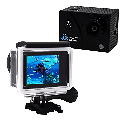 Action Camera 4K Ultra HD 16.0 MP WIFI 1080p 60fps 170 Degree Wide Angle 2 Inch LCD Screen Action Cameras YISENCE