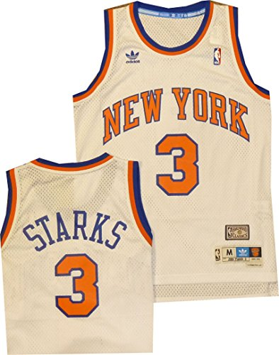 NBA Men's New York Knicks John Starks Hardwood Classics White Swingman Jersey