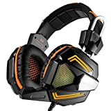 DZT1968 EACH G5000 Professional PC Stereo Gaming Headset For Laptops Or Computers (Orange)