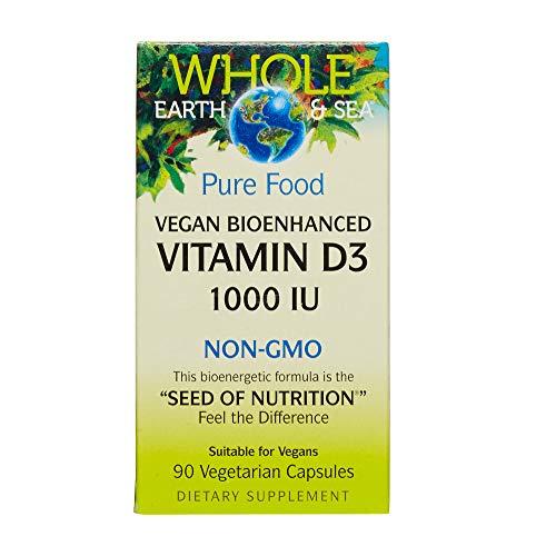 Whole Earth & Sea - Vitamin D3 1000 IU, 90 Vegetarian Capsules