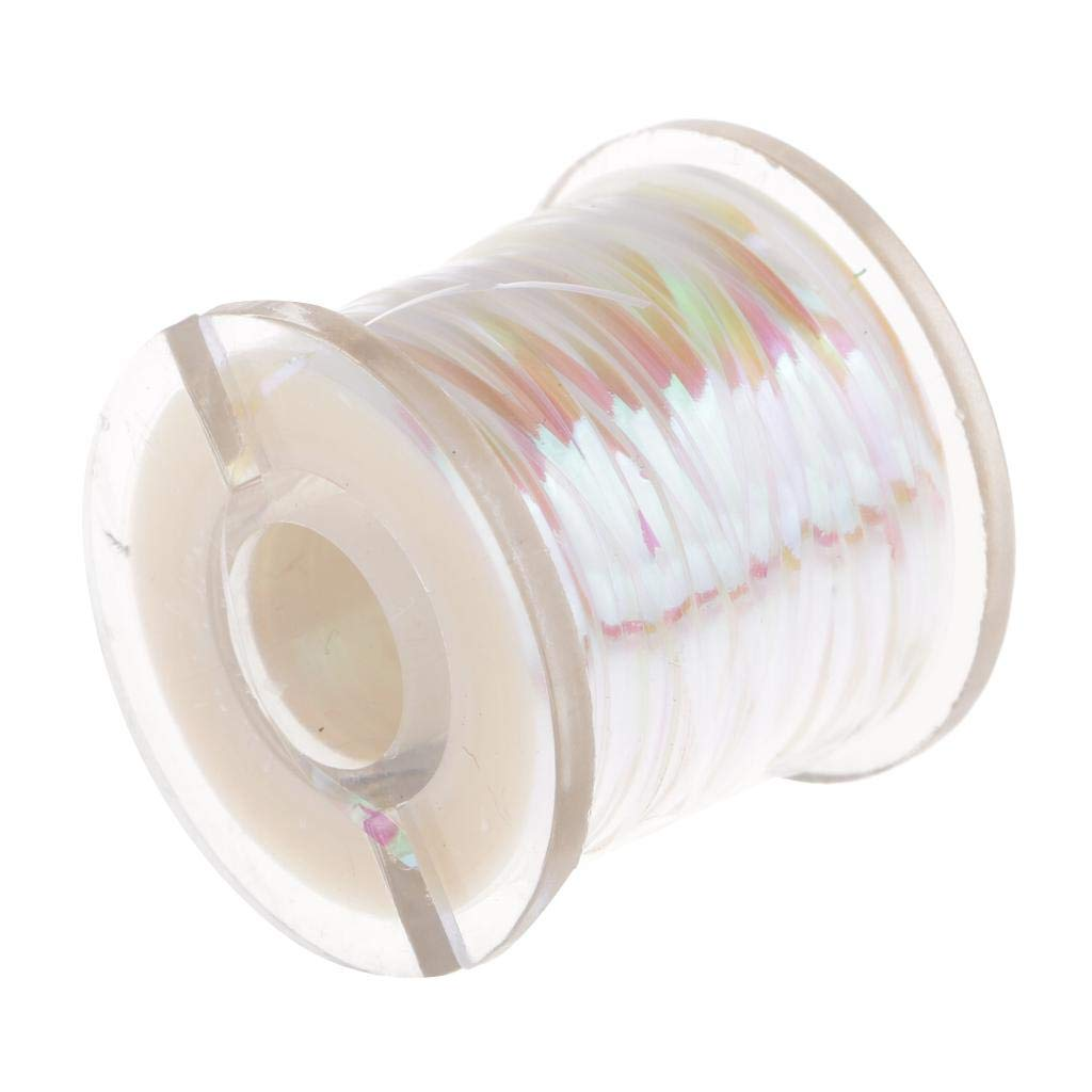 Sharplace Rouleau Ruban de P/êche Holographique Tinsel Ligne Mouche Ruban Adh/ésif Attache Tape