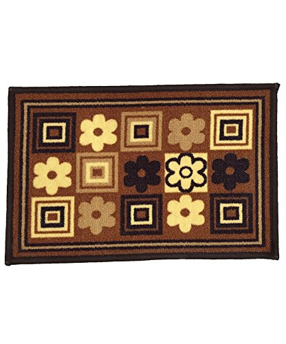 Athom Trendz Modern Living Polyester Door Mat - 14x22, Brown