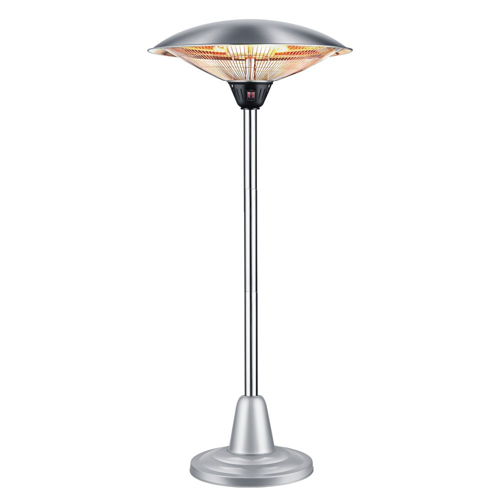 Sundate Electric Patio Heater, Free-Standing Indoor/Outdoor Heater, Adjustable Height and Silent Heating, PHH-1500BS