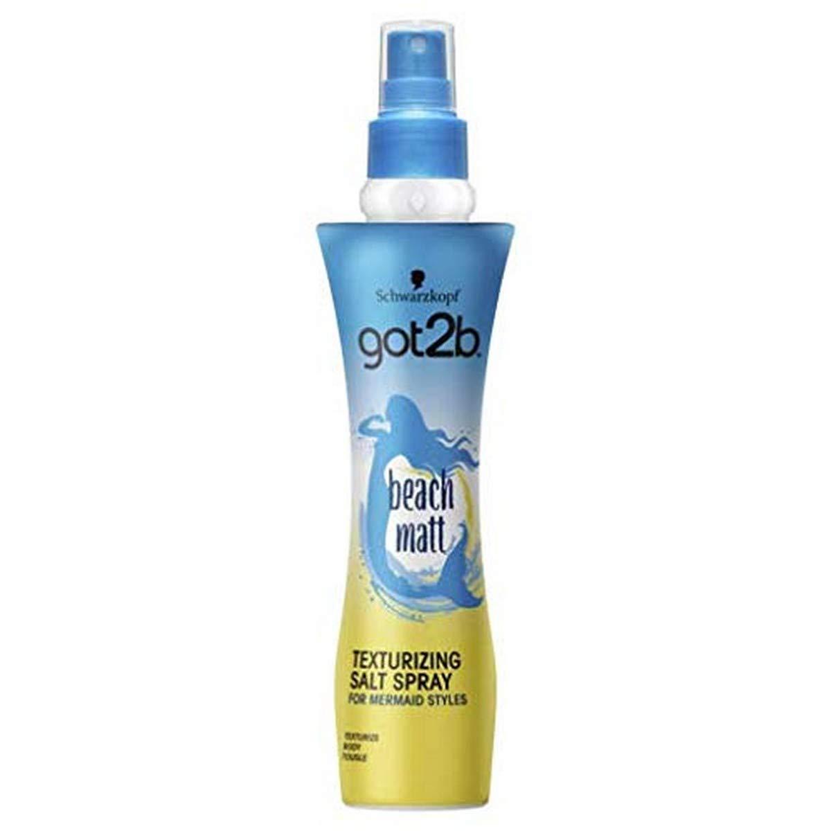 Schwarzkopf got2b Beach Matt Salt Hair Spray, Creates Waves and Textures with a Matt Finish, 200 ml