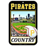 11X17 Country Plastic Street Sign MLB Pittsburgh Pirates