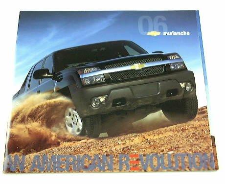 2006 06 Chevrolet Chevy AVALANCHE Pickup Truck BROCHURE