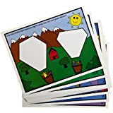 American Educational Pattern Block Picture Cards Set, Set B (24 Piece Set)