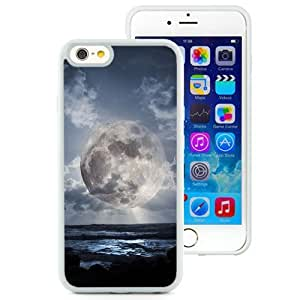 New Beautiful Custom Designed Cover Case For iPhone 6 4.7 Inch TPU With Super Moon Over Sea (2) Phone Case