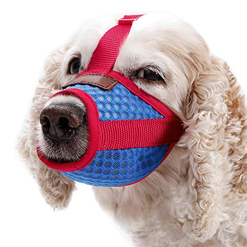 Leoattend Pet Dog Muzzle - Anti-Biting Barking Secure Fit Dog Muzzle - Mesh Breathable Dog Mouth Cover for Small Medium Large Dogs