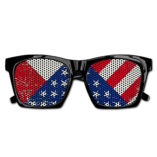 Elephant AN Themed Novelty Broken American And Canadian Flags Fashionable Visual Mesh Sunglasses Fun Props Party Favors Gift - Canadian Sunglasses