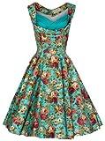 Lindy-Bop-Womens-Ophelia-Vintage-1950s-Garden-Party-Picnic-Dress
