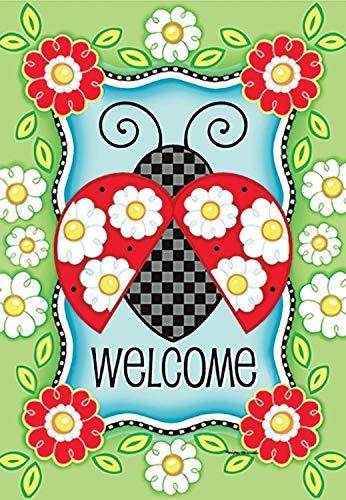 HOOSUNFlagrbfa Welcome Ladybug Garden Flag Rain or Shine 1.04-ft W x 1.5-ft H
