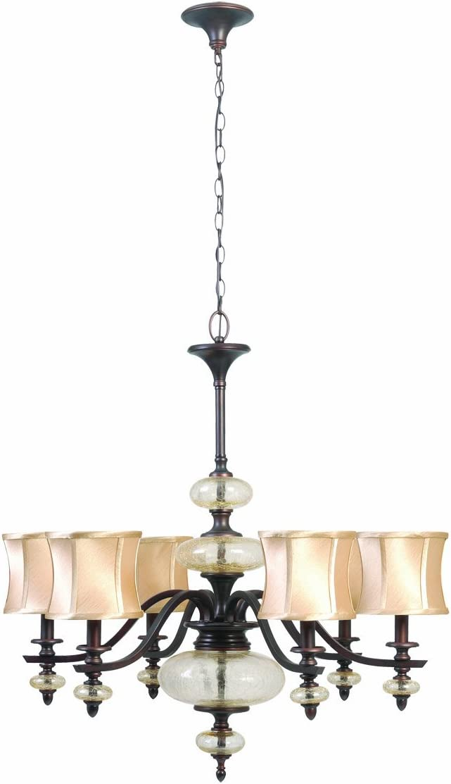 World Imports 8546-56 Chambord Collection 6-Light Chandelier, Weathered Copper
