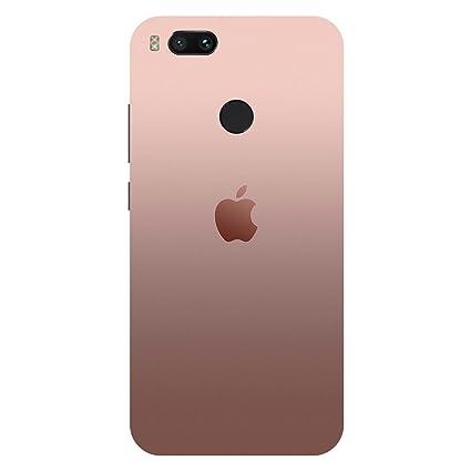 wholesale dealer b01e0 d6cee Shopoholics Pink Apple Logo Hard Polycarbonate Designer Back Case Cover For  Xiaomi Redmi Mi A1 2017