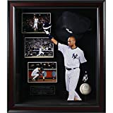 Derek Jeter Final Game At Yankee Stadium Custom Framed Shadowbox With Autographed Authentic Game Used 2014 Baseball and Commemorative Hat 20 Inch X 24 Inch