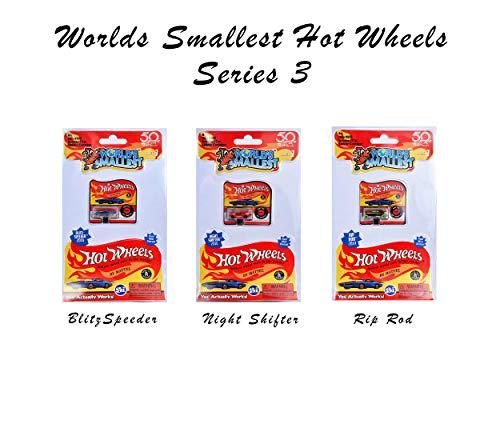 Worlds Smallest Hot Wheels Collection Series 3 - Blitzspeeder - Night Shifter - Rip Rod