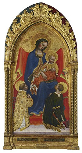 Cobra Officer Costumes (Oil Painting 'Gentile Da Fabriano - Madonna And Child, With Saints Lawrence And Julian, 1423-25' 18 x 34 inch / 46 x 85 cm , on High Definition HD canvas prints, Game Room, Garage And Kitchen decor)