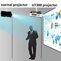 Ultra Short Throw Projector HDMI 4000 ANSI Lumens Data Powerpoint Presentation Business Church Projector by NIERBO