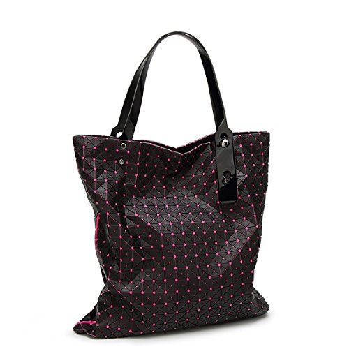 Main Triangle Coréenne Géométrie 21X21 à Silicone Pli Sac Bandoulière Ling Version Bag RoseRed Dame Trendy Sac à wqROtPxx