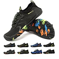 HooyFeel Men Women Water Shoes Barefoot Beach Swim Shoes Multifunctional Quick-Dry for Surfing Yoga Exercise