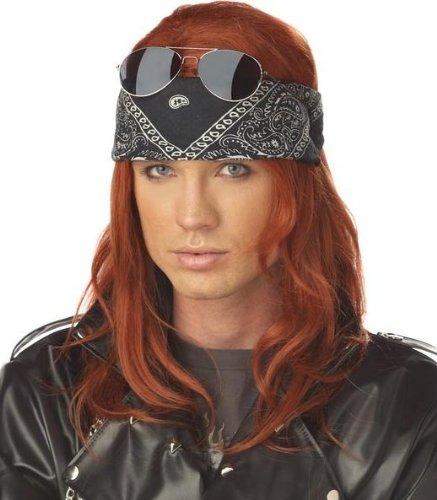 Hollywood Rocker Wig Costume Accessory -