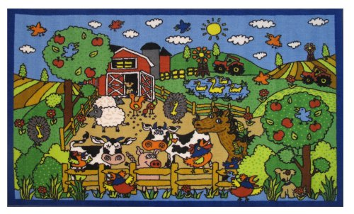 - Fun Rugs Fun Time Happy Farm Novelty Rug, 39 x 58