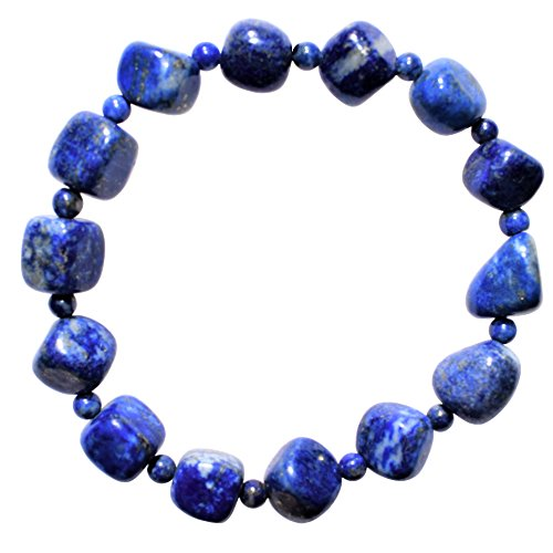 Zenergy Gems Charged Custom (2-Bead) Natural Premium Lapis Lazuli Stretchy Bracelet