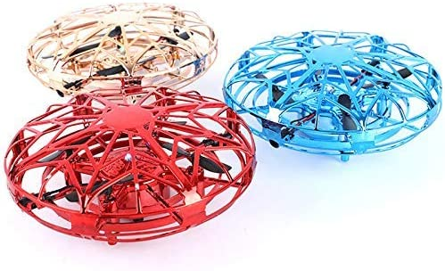 NWHEBET UFO Drone Toy Infrared Sensors Flying Toys for Kids Mini Drone with LED Lighting Hand Controlled Frisbee USB Charging Interactive Tech Gadgets Xmas Gifts