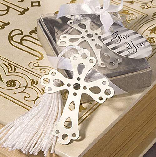 Creative Bookmark Souvenir Wedding Bookmark Favors Cross/Butterfly/Angel/Love Design Bookmark Favors Gift (24pcs, Cross)
