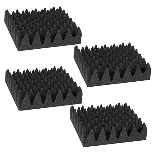 Neewer Paquete de 4 Paneles de Espuma Acústica a Prueba de Fuego 2,5'X 12' X 12' para Uso Casero y de Estudio