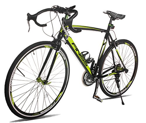 Merax Finiss Aluminum 21 Speed 700C Road Bike Racing Bicycle Shimano (58 cm, Green & Black)