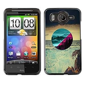 Caucho caso de Shell duro de la cubierta de accesorios de protección BY RAYDREAMMM - HTC G10 - Hermosos paisajes