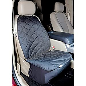 4Knines Front Seat Cover for Dogs in Cars Trucks or SUVs Bucket Seats - New Waterproof Seat Bottom - USA Based Company