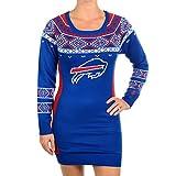5ab1a87504f NFL Football 2015 Womens Big Logo Sweater Dress (Buffalo Bills, XL) at  Amazon