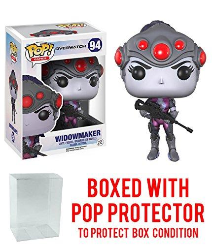Funko Pop! Games: Overwatch Action Figure Widowmaker Bundled with Box Protector