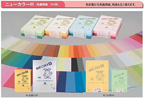 色画用紙(ニューカラーR)8切判100枚(黒/えんじ) 550 えんじ