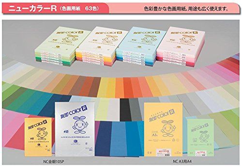 色画用紙(ニューカラーR)8切判100枚(一般色) 135 ピンク