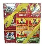 Sun Maid Raisins Variety Set - 3 PACKS of 6 Boxes - California original raisins, Golden raisins, Organic raisins - 18 total 1.33oz boxes