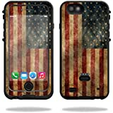 MightySkins Protective Vinyl Skin Decal for LifeProof FRE Power iPhone 6/6S Case wrap cover sticker skins Vintage Flag