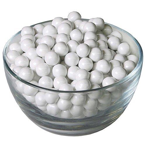 Sweetworks Celebrations Candy Sixlets Shimmer, 14 oz Bag, White -