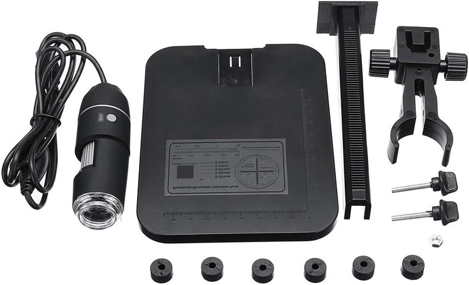 Shiwaki Lupa USB Digital Profesional De Microscopio Electr/ónico 1600X con Soporte