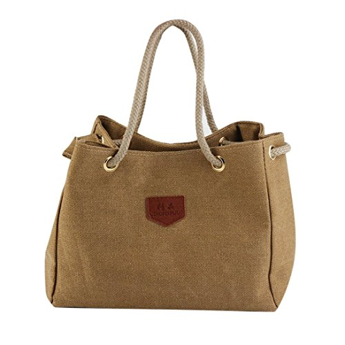 Single Bag Canvas Rope Design shoulder Hemp Casual Cloth Strap Swiftswan Made Bag Woman qxwzOvv