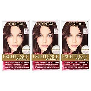 Amazon.com : L\'Oreal Paris Excellence Creme Hair Color, Dark ...