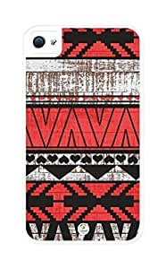 iZERCASE Aztec Wood Red Pattern Rugged Premium For Samsung Galaxy S3 I9300 Case Cover - Fits For Samsung Galaxy S3 I9300 Case Cover & For Samsung Galaxy S3 I9300 Case Cover s (White)
