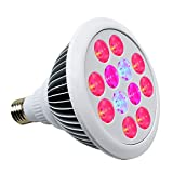 24W LED Grow Light, Litlove Full Spectrum E27 Plant Grow Lamp Indoor Plant For Garden Greenhouse and Hydroponic. For Sale