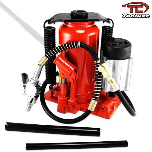 Tooluxe 31010L Low Profile Air Hydraulic Manual Bottle Jack | 20-Ton Capacity