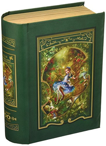 MasterPieces Alice in Wonderland Book Box EZ Grip Jigsaw Puzzle, Art by Shu, 300-Piece