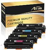 Arcon 4 Packs Compatible for HP 410A 410X Toner Cartridge HP Color LaserJet Pro MFP M477fdw M477fnw M477fdn HP Color LaserJet Pro M452dn M452nw M452dw M377dw M452 M477 CF410X CF410A Laser Printer Ink