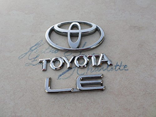 99-01-toyota-corolla-le-rear-trunk-chrome-logo-75431-12050-emblem-75444-1a270-nameplate-set-of-3-dec
