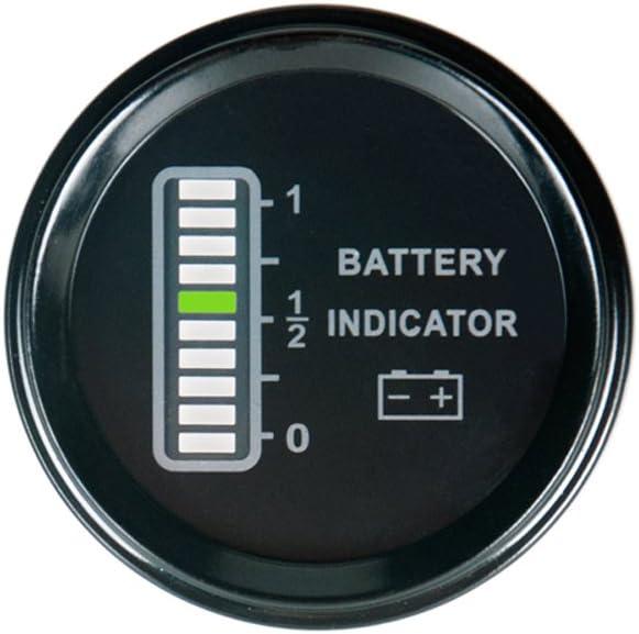 Monland Rl-Bi011 Batterie Anzeige Agm Gel Volt Meter Batterie Anzeige Mit Betriebs Stunden Z?hler F/ür Motorrad ATV Traktor Reinigungs Maschine